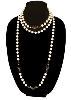 60s  Kenneth Jay Lane Faux Pearl Necklace by MadgesHatBox on Etsy, $175.00