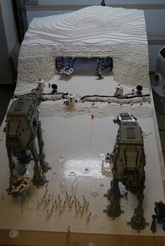 Lego scene of the battle of Hoth! Awesome!