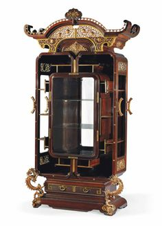 A FRENCH ORMOLU-MOUNTED ROSEWOOD VITRINE-CABINET - BY EDOUARD LIÈVRE, PARIS, CIRCA 1880