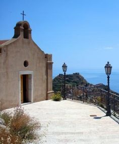 Church in Castelmola, above Taormina in Sicily
