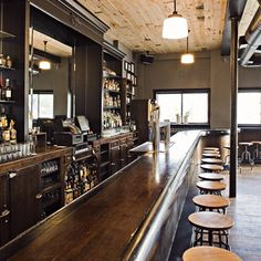 The bar and restaurant at Longman & Eagle (where six inn rooms just opened a few months ago) is as unpretentious as your favorite neighborhood pub. And entirely designed and built by two of the owners.