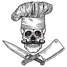 Image result for pirate chef tattoos