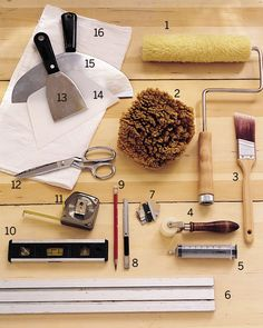 What You'll Need How To Hang Wallpaper, Home Wallpaper, Hanging Wallpaper, Wallpapering Tools, Natural Sponge, Home Renovation, Decorating Tips, Interior And Exterior, Paint Colors