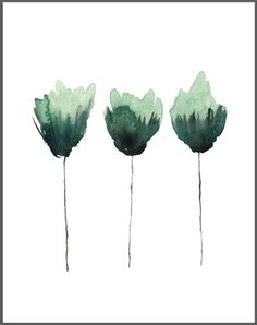 Simple watercolor flower, watercolor greenery, blooms, abstract floral art, watercolor wall art, beginner watercolor, simple floral, learn to paint watercolor, easy watercolor flowers #watercolorarts