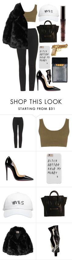 """look #106"" by kaylaaloves ❤ liked on Polyvore featuring adidas Originals, Christian Louboutin, October's Very Own, CÉLINE, The Row, Rock Rebel and Aesop"