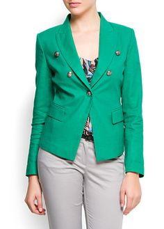 Military Style Blazer, i'm really into blazers right now, especially fun colored ones!