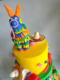 Pink Little Cake: Mexican Fiesta Theme Cake