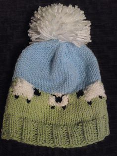 Baby Sheep Hat - love them sheep - just like the bib - adorable!