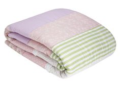 A lovely quilt by Laura Ashley for her room - pinks, greens and lavenders
