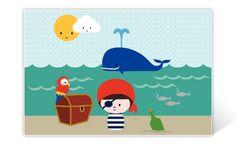 Geburtskarte Piraten