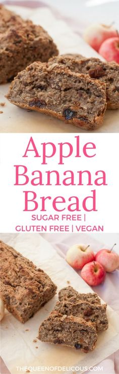 Bake a gorgeous cake for breakfast without any added sugar. Apple banana bread is also gluten free and vegan and packed with deliciousness.