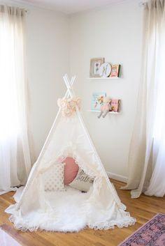 Home // Whimsical, Bohemian Nursery Update - Lauren McBride Boho Nursery, Nursery Wall Decor, Nursery Room, Girl Nursery, Nursery Ideas, Room Ideas, Baby Bedroom, Girls Bedroom, Bedroom Wall