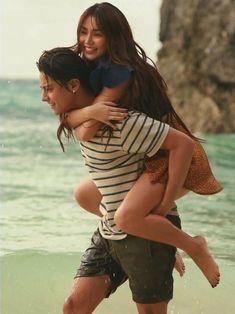 Daniel Padilla, Kathryn Bernardo, Relationship Goals, Ball Gowns, Dj, Blue Hearts, Kawaii, Clouds, Couple Photos