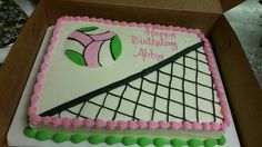 Volleyball birthday sheet cake with net