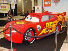 Lightning McQueen Life Size LEGO Sculpture