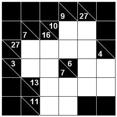 Number Logic Puzzles: 22123 - Kakuro size 1