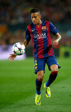 Neymar of Barcelona tin action during the UEFA Champions League Quarter Final second leg match between FC Barcelona and Paris Saint-Germain at Camp Nou on April 21, 2015 in Barcelona, Catalonia.