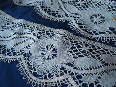 Vtg Antique Wide Handmade French Cluny Bobbin Lace Trim 7yds Victorian   eBay