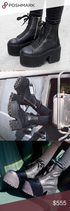 ISO UNIF ERA boot 10 punk goth platform dollskill Today's the day, I can feel it & you can make it happen fellow Poshers!!! I'm desperately seeking the Unif Era boots in a sz 10! I want these boots in my life and on my feet. I have other Unif ISO's but these are moving up to the front of the list. I'm cool w/ used as long as the price and condition is fair. UNIF Shoes