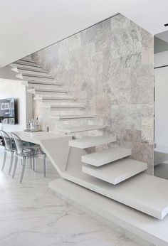 Modern Staircase Design Ideas Search motivational pictures of modern stairs. W Modern Stairs Design Ideas Modern motivational Pictures Search Staircase stairs Interior Design Your Home, Home Stairs Design, Interior Stairs, Dream Home Design, Modern House Design, Modern Stairs Design, Loft Staircase, House Stairs, Concrete Staircase