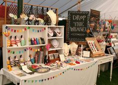 Love the use of heights ---Craft Fair Stall display.