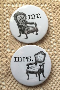 Make your own Mod style retro pin badges for guests places cards! Xx