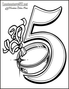 05 Golden Rings Coloring Page Katrina Meredith 12 Days Of Christmas