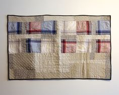 Hankies Quilt , machine pieced and hand quilted. 2011