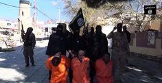 فيديو للدولة الإسلامية يظهر ذبح ثلاثة من مقاتلي البشمركة في العراق http://democraticac.de/?p=11088 Video of the Islamic state shows the slaughter of three of the peshmerga fighters in Iraq