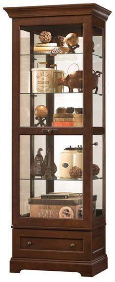 Howard Miller Manford Cherry Bordeaux Curio Cabinet