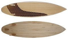 CNC Milled Wooden Surfboard