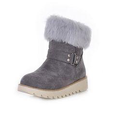 gamuza plana botas de tacón tobillo con piel de fiesta / zapatos de noche (más colores) – EUR € 33.40