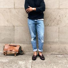 Men's Pinch Grand Tassel Loafer in Burgundy Business Casual Jeans, Business Outfits, Stylish Older Women, Casual Outfits, Men Casual, Mode Jeans, Fashion Images, Style Guides, Menswear