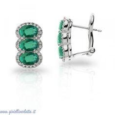 comete gioielli cleopatra orecchini con smeraldi e diamanti orb 756 Gioielleria Shopping Online  http://www.gioiellivarlotta.it/product.php?id_product=1747