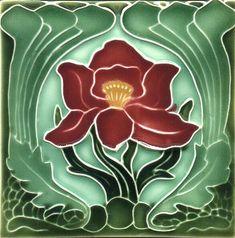 Art Nouveau decorative Ceramic tile by Imagesdesign on Etsy https://www.etsy.com/listing/196328242/art-nouveau-decorative-ceramic-tile