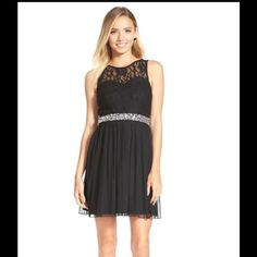 58195897c Speechless Embellished Lace Bodice Skater Dress (Juniors) available at