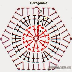 Moldes y patrones de medias tejidas al crochet con grannys hexagonales | Crochet y Dos agujas