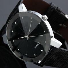 Black Stainless Steel quartz watch