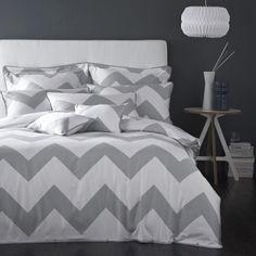 Boutique Chevron Charcoal Grey - Bedroom ideas