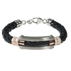 Leather Cable Mens Bracelet 159 Bracelets For Men Stylish Rose Gold