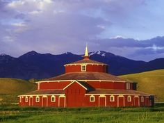 Historic Round Barn at Twin Bridges, Montana, USA Photographic Print by Chuck Haney at AllPosters.com