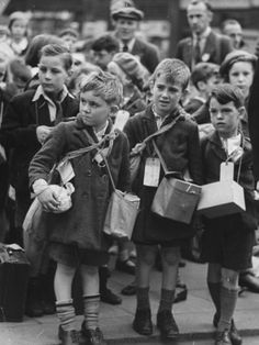 Children Being Evacuated Out of London During the Outbreak of World War II, William Vandivert