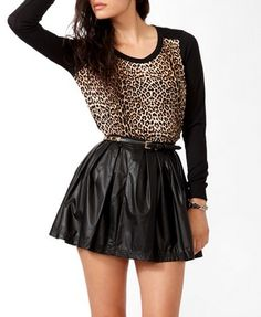 Animal Print Front Top | FOREVER 21 - 2030640472