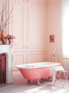 Dreamy bathroom! Think PINK.