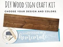 Load image into Gallery viewer, DIY Wood Sign Kit | Various Designs | Plank Stained Board Diy Wood Signs, Rustic Wood Signs, Custom Stencils, Stencil Designs, Sponge Painting, Diy Painting, Craft Kits, Diy Kits, Make Your Own Sign