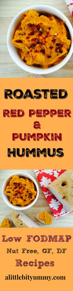 This low FODMAP roasted red pepper hummus is perfect on toast from breakfast or on rice crackers for a quick and tasty snack!