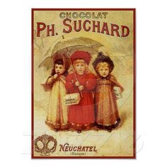 Chocolate pH del vintage. Anuncio de Suchard Posters de Zazzle.es