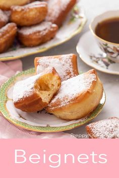 Beignets are a soft, pillowy, vanilla-scented French donut fried until golden brown then dusted with powdered sugar. Preppy Kitchen shows you how to make these amazing treats for family and friends to enjoy! #beignets #sweettreats #dessertideas