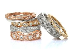 We are designers of unique wedding bands. Our pieces are made to last for generations. They are made to be passed down someday as an heirloom. Whether you're looking at a matching band to complement your engagement ring or you like one of our wider signature rings, all of our pieces are created by the hands of our master artisans. There is no better symbol than a wedding ring to show the unity and love between two people. Let Knox create the an heirloom that you two will share forever by…