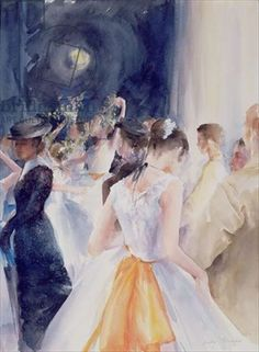 Rehearsing Degas, National Youth Ballet, Her Majestys Theatre, 1997 (w/c and gouache paper)